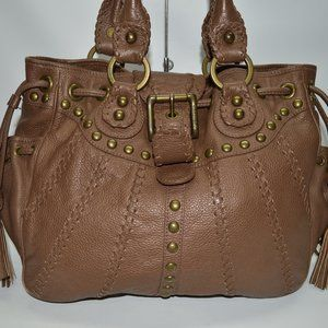 Isabella Fiore Studded Drawstring Large Tote Bag